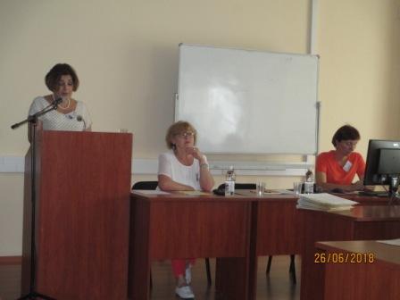 Выступает Иванцова Ирина Дмитриевна, Выступает главный библиотекарь отдела читальных залов БГУНБ