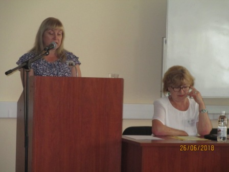Выступает Кальницкая Лариса Николаевна, библиотекарь фонда редкой книги БГУНБ